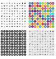 100 fly icons set variant vector image