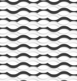 3D overlapping black and white waves vector image vector image