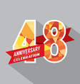 48th Years Anniversary Celebration Design vector image vector image