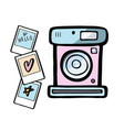 a retro photo camera vector image vector image