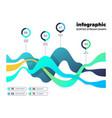 abstract financial digital chart market vector image vector image
