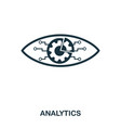 analytics icon line style icon design ui vector image
