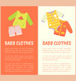 baby clothes two colorful vector image vector image