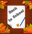 back to school banner with paper leaves and vector image vector image