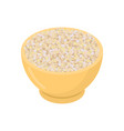 barley grits in wooden bowl isolated groats in vector image