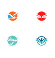 bird and wing logo template vector image vector image