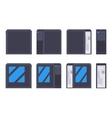Black PC case vector image