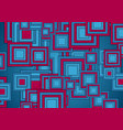 blue and purple squares abstract tech geometry vector image vector image