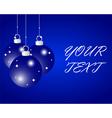 Blue Christmas balls vector image vector image