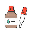 bottle and dropper vector image vector image