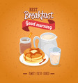breakfast concept with food and drinks vector image vector image
