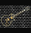 brick wall with a classic rock electric guitar vector image vector image
