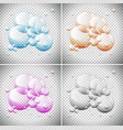 bubbles in four different colors vector image vector image