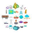 business group icons set cartoon style vector image vector image