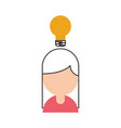 businesswoman avatar with bulb vector image