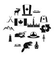canada icons black vector image
