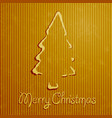 christmas greeting card with yellow background vector image vector image