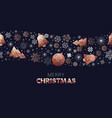 christmas season low poly copper ornament pattern vector image