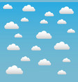 clouds on a blue sky background vector image vector image