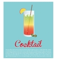 cocktail glass ice olive star background vector image
