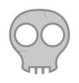 comic skull head icon vector image vector image
