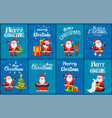 congratulation merry christmas santa card vector image