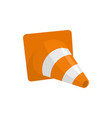 construction cone icon flat style vector image vector image