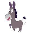 crazy donkey on white background vector image vector image