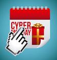 Cyber Monday design vector image