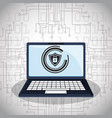 cyber security technology padlock shield vector image vector image