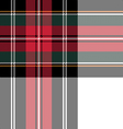 dress stewart tartan seamless pattern fabric vector image vector image