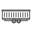 farm wheat trailer icon outline style vector image