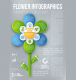 flower style infographic chart options menu vector image