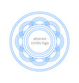 geometrical logo template created from the circles vector image vector image