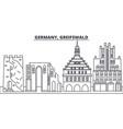 germany greifswald line skyline vector image vector image