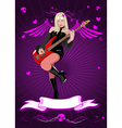 girl with bass guitar vector image
