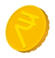 Gold coin with Rupee sign icon cartoon style vector image vector image