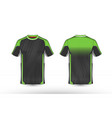 green black and white layout e-sport t-shirt vector image vector image