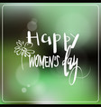 happy womens day greeting card with hand drawn vector image