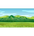 High mountains vector image