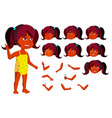 indian girl child joy hindu in water vector image vector image