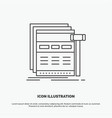 internet page web webpage wireframe icon line vector image vector image