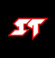 it logo design initial it letter design vector image vector image