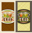 layouts for tea vector image