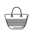 line fashion purse to be in the beach vector image