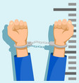 man in handcuffs vector image