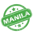 Manila green stamp vector image vector image