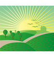 Meadow landscape background vector image vector image