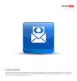 message icon - 3d blue button vector image vector image