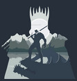 monster hunter killed vector image vector image